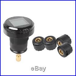 12V Wireless Car TPMS Tire Tyre Pressure Monitor System 4 External Sensors Kit