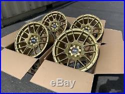 15X8 +20 XXR 530 4x100/114.3 Gold Rims Fits 4 Lug Civic Jetta Miata Xb Ek (Used)