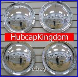 15 FULL MOON Chrome Hubcaps Wheelcover SET