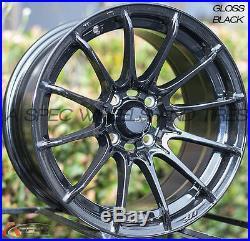 15x7 KONIG DIAL IN 4x100 +35 Gloss Black Wheels (Set of 4)