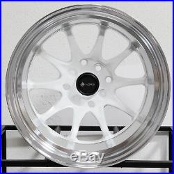 15x8/15x9 White Wheels Vors TR3 4x100/4x114.3 0/0 (Set of 4)