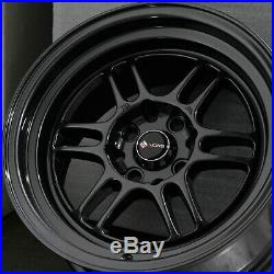 15x8 Gun Metal Wheels Vors TR6 4x100/4x114.3 20 (Set of 4)
