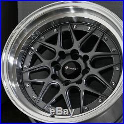 15x8 Gun Metal Wheels Vors VR7 4x100/4x114.3 0 (Set of 4)