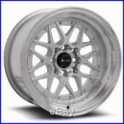 15x8 Silver Wheels Vors VR7 4x100/4x114.3 0 (Set of 4)