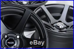 15x8 Wheels Honda Accord Civic Mazda Mx-5 Miata Corolla Matt Black Rims 4x100