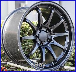 17x9/10 Varrstoen Es330 5x114.3 +22 Matte Black Wheel Fit Infiniti G35 350z Rims