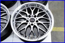 17 Wheels Volkswagen Beetle CC EOS Golf GTI Jetta Passat Rabbit Black Rims 5x112