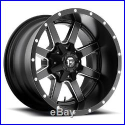 17x10 Fuel Maverick D538 5x5.5 5x139.7 -24 Black Milled Wheel set(4)