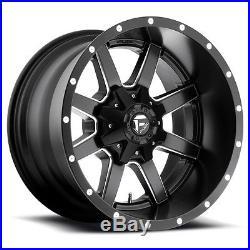 17x10 Fuel Maverick D538 8x6.5 8x165 -24 Black Milled Wheel set(4)