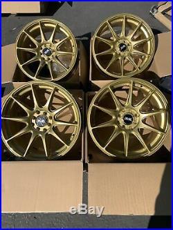 17x7.5 XXR 527 4x100 4x114.3 +40 Gold Wheels Rims (Used Set)