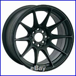 17x8.25 Xxr 527 Wheels 4x100/114.3 Rim 25mm Flat Black Fits Del So Accord CIVIC
