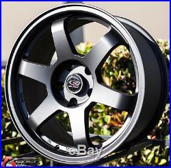 17x8 +35 Rota Grid Black 5x100 Rim Fit Subaru Forester Legacy Impreza Wrx Matrix