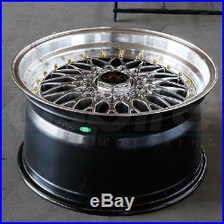 17x8.5 JNC ESM002R Style 004 5x100/5x114.3 15 Hyper Black Wheel New set(4)