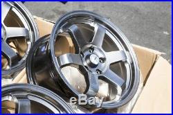 17x8 Avid1 Av06 5x114.3 +35 Hyper Black Wheels Fits Civic Rsx Accord Tsx (Used)