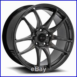 17x8 Hyper Black Wheels Vors TR4 5x114.3 35 (Set of 4)