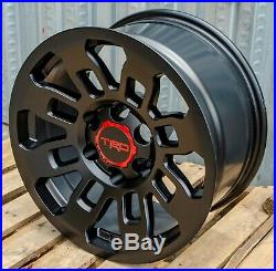 17x8 Pro Style Matte Black Wheels Fits Toyota Tacoma FJ Cruiser 4Runner