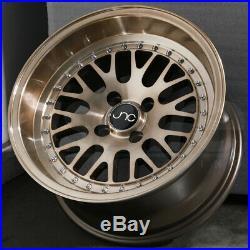 17x8 Transparent Bronze Wheels JNC 001 JNC001 4x100/4x114.3 25 (Set of 4)