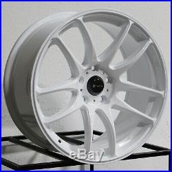 17x8 White Wheels Vors TR4 5x114.3 35 (Set of 4)