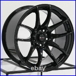 17x9 Black Wheels Vors TR4 5x114.3 30 (Set of 4) 73.1