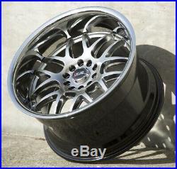 18X10.5 XXR 526 5x114.3/120 +20 Chromium Black/Silver Chrome Lip Wheels (Set 4)
