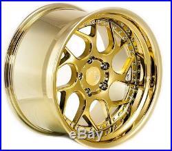 18x10.5 Aodhan DS01 Rims 5x114.3 +15 Gold Vaccum Wheels (Set of 4)