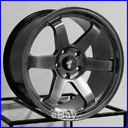 18x8.5/18x9.5 Hyper Black Wheels AVID1 AV06 AV-06 5x114.3 35/38 (Set of 4)