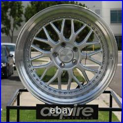 18x8.5/18x9.5 Hyper Silver Wheels ESR SR01 SR1 5x120 30/35 (Set of 4)