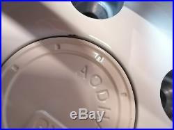 18x8.5 +35 AodHan AH05 5x100 White Wheels Rims (Used Set)
