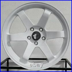18x8.5 Matte White Wheels AVID1 AV06 5x114.3 35 (Set of 4) 73.1