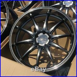 18x9 +35 XXR 527D 5x114.3 Chromium Black Wheels Rims (Used Set)