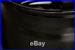 18x9.5/10.5 Aodhan DS01 5x114.3 +15 Black Wheels Rims Fits 350Z 370Z G35 (Used)
