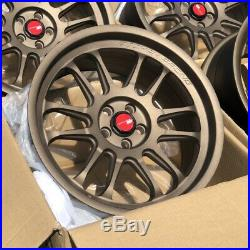 18x9.5 +30 AodHan AH07 5x100 Bronze Wheels Rims (Used Set)