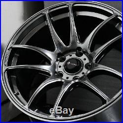 18x9.5 Hyper Black Wheels Vors TR4 5x114.3 35 (Set of 4)