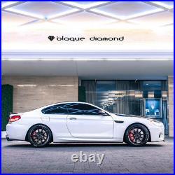 19 Blaque Diamond Bd11 Black Concave Wheels Rims Fits Honda Accord