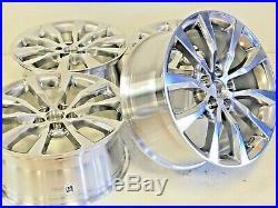 19 Inch Cadillac 4 Ct6 Xts Cts 08-19 Polished Rims Wheels Set 4775 Oem Factory