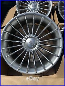 19x8.5 +37 F /19x9.5 +33R 5x120 72.6 Hub Silver Rims Fits BMW E90 E92 (Used Set)