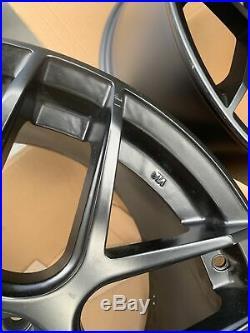 19x9.5 +35 AodHan LS002 5X112 +35 Matte Black Wheels Rims (Used Set)