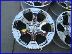 20 Dodge Ram 1500 Laramie Oem Factory Wheels Rims Chrome Clad 2020 2021 6 Lug