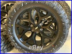 20 Inch Gmc & Chevy Silverado Snowflake Wheels Black Rims Mt Tires 33x125020 6x1