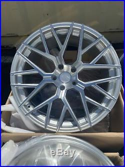 20x9 +30 F /20x10.5 + 35 R Aodhan LS009 5x120 Silver Rims Wheels (Used Set)