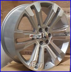 22 GMC Replica Rims Silver 2018 Style Wheel Fit Tahoe Sierra Yukon Silverado G10