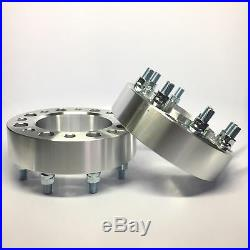 2pc Hubcentric 8x6.5 Wheel Spacers 9/16 2 Inch 50mm 8 Lug Adapter 8x165.1