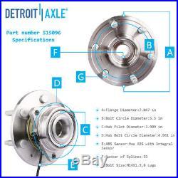 4WD Front Wheel bearings + CV NUTS Sierra Chevy Silverado 1500 Tahoe 2008-2013