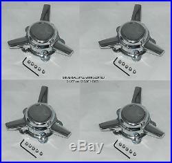 4 AMERICAN RACING 2-1/4 or 2-1/8 SPACING SPINNER TRIBAR WHEEL RIM CENTER CAPS