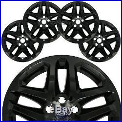 4 BLACK 13-16 Ford Fusion 17 Wheel Covers Rim Skins Hub Caps fits Alloy Wheels