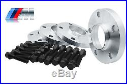 4 BMW Wheel Spacers Staggered Kit (2) 15mm & (2) 20mm 5x120 With20 Black Bolts