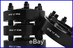 4 Ford F-150 Raptor Expedition Black 1.5 Hub Centric Wheel Spacers Adapters