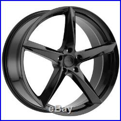 4-NEW 18 Inch MKW M120 18x8 5x114.3(5x4.5) +40mm Gloss Black Wheels Rims
