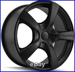 4-NEW Touren TR9 16x7 5x110/5x115 +42mm Matte Black Wheels Rims