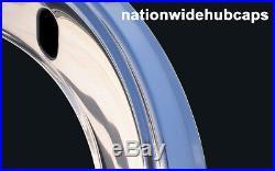 4 New 14 14x7 Rally Steel Wheel TRIM RINGS 2.5 Deep Beauty Glamour Rim Bands